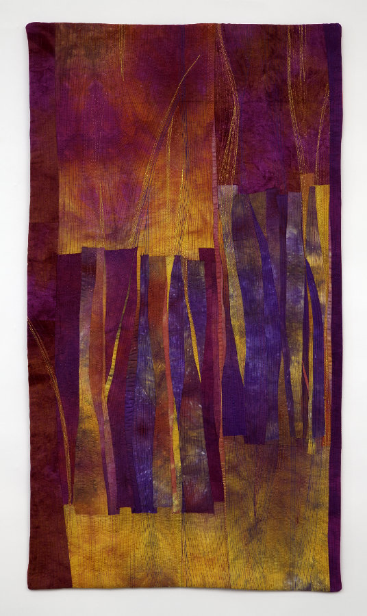 art quilt with hand dyed fabric
