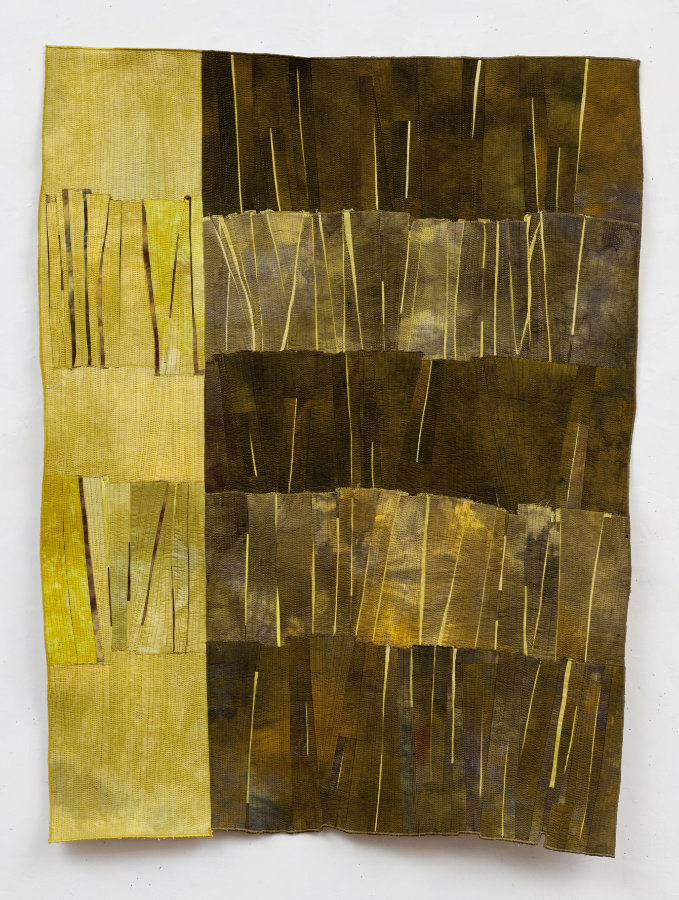 abstract contemporary fabric art