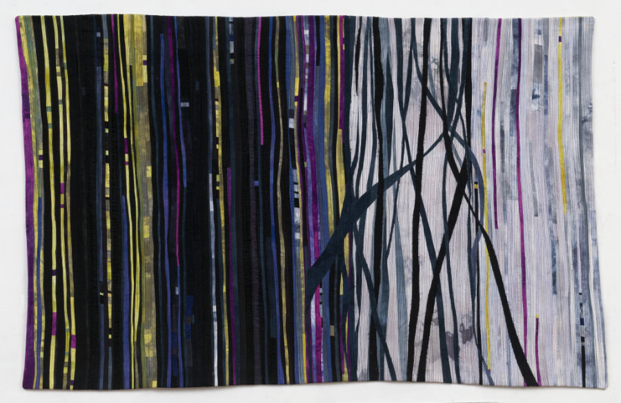 hand-dyed fabric art quilt