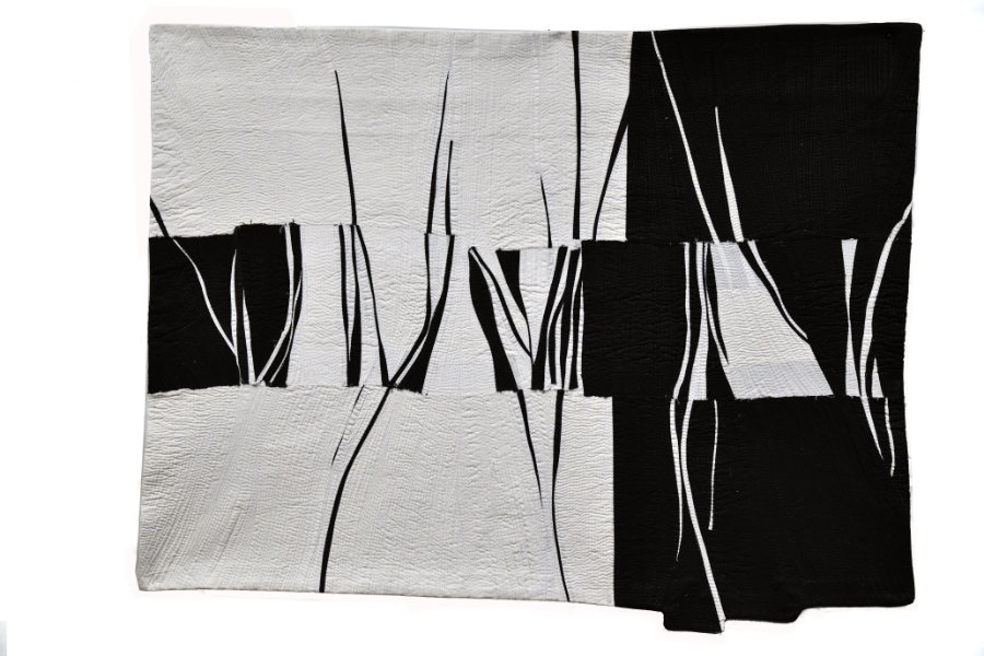 black and white quilt