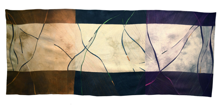 abstract contemporary quilt by Beth Carney