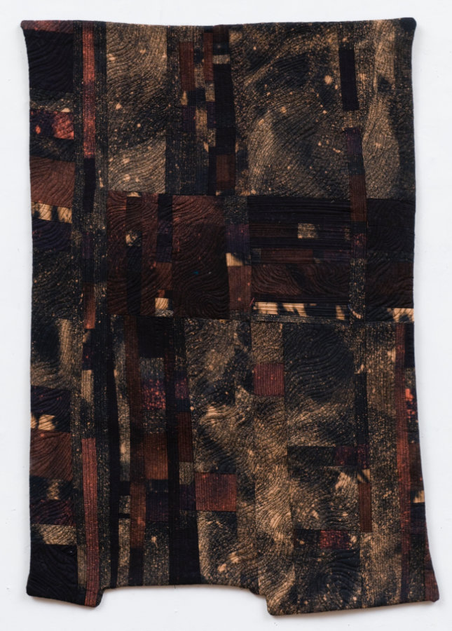 hand-dyed fabric, pieced modern quilt