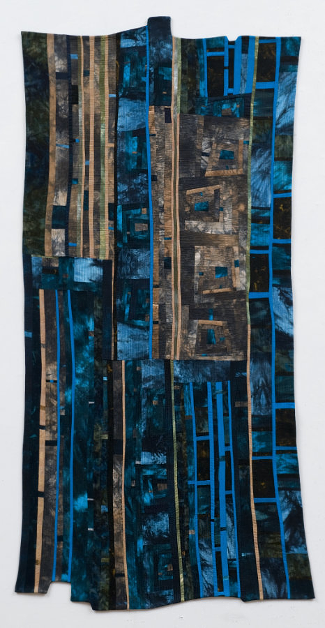 art quilt with hand-dyed fabric