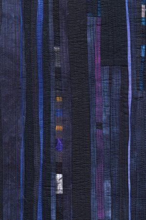 detail image of abstract fiber art by Beth Carney